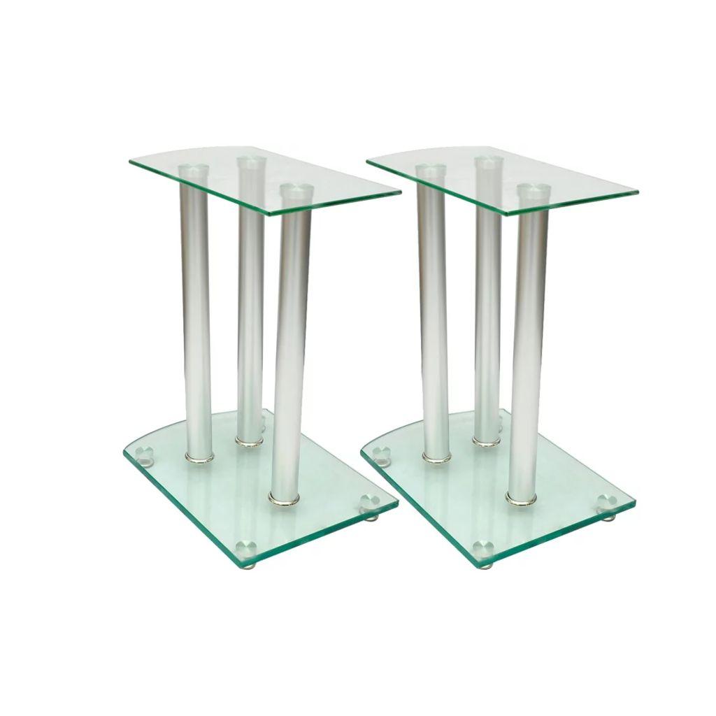 2x Luxus Lautsprecherständer Glas Lautsprecher NEU