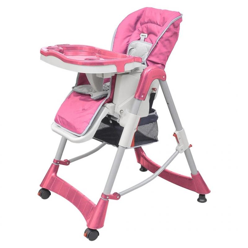 Babystuhl Hochstuhl Deluxe Rosa Höhenverstellbar