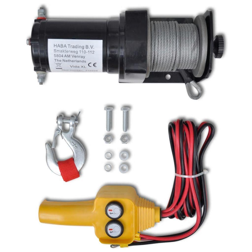 12 V Elektrische Seilwinde 907 kg Kabel-Fernbedienung