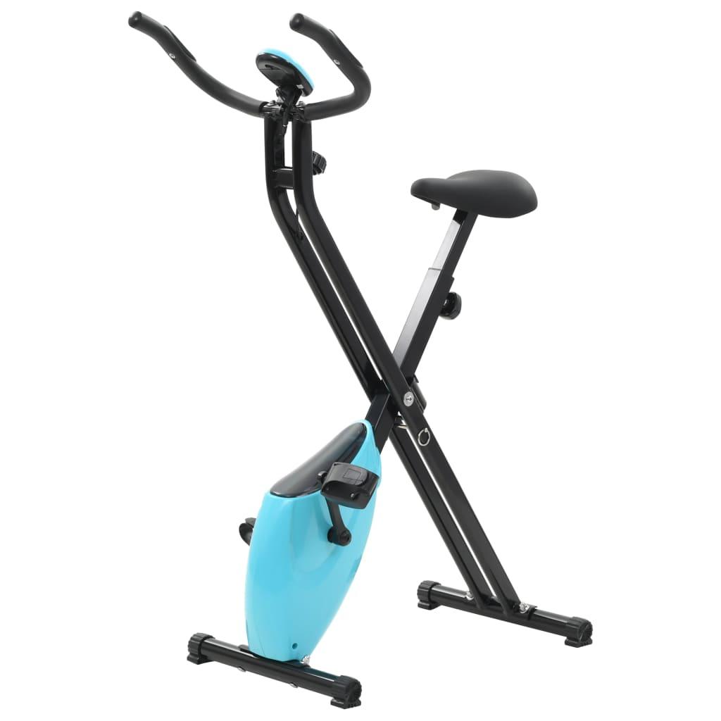 Magnetischer Heimtrainer X-Bike mit Pulsmessung Schwarz Blau