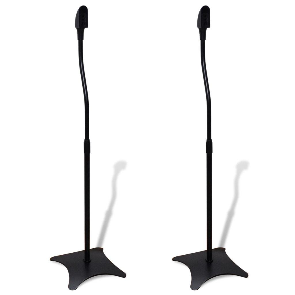 Mikrofonständer Lautsprecherständer Ständer 2 Stück Schwarz
