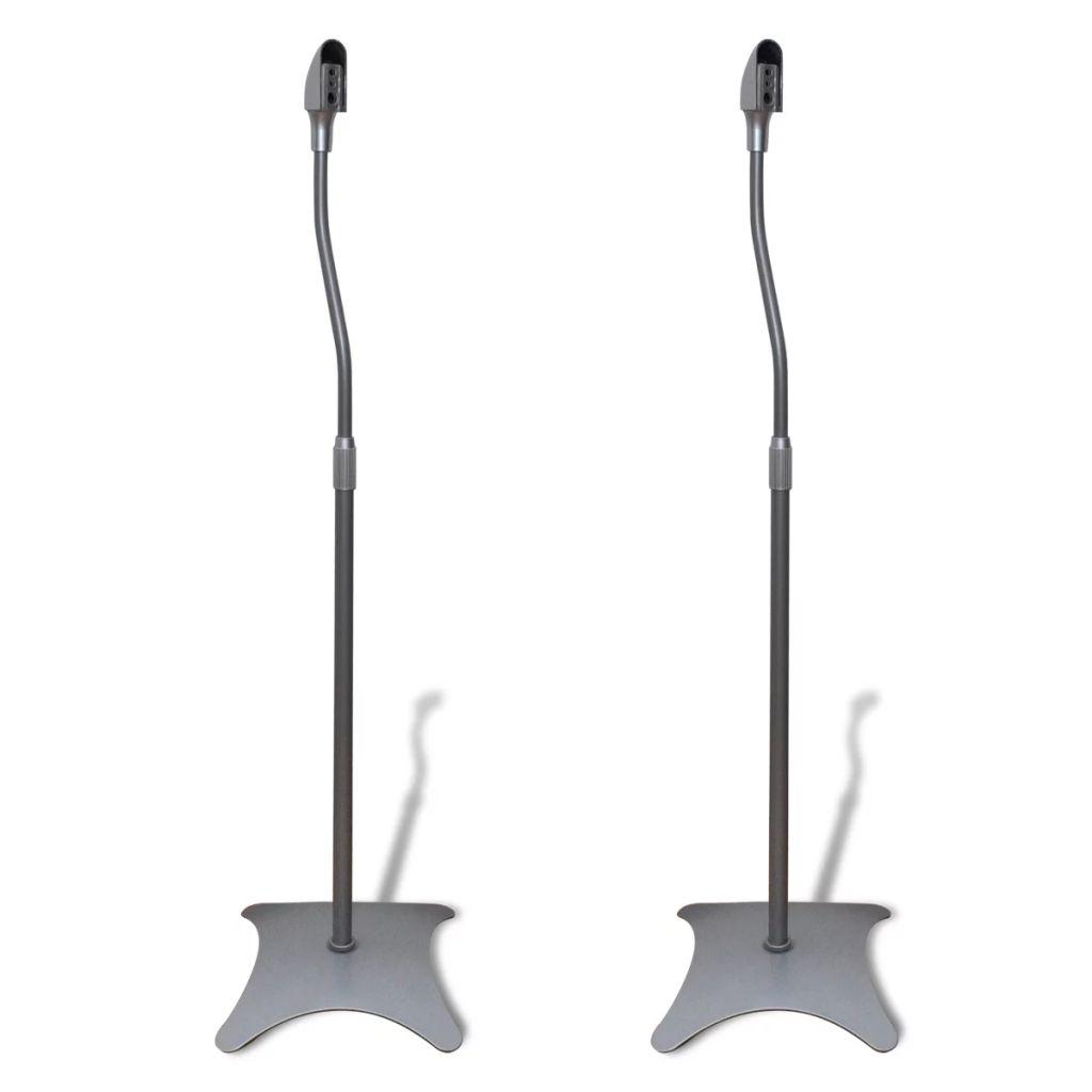 Mikrofonständer Lautsprecherständer Ständer 2 Stück Silber