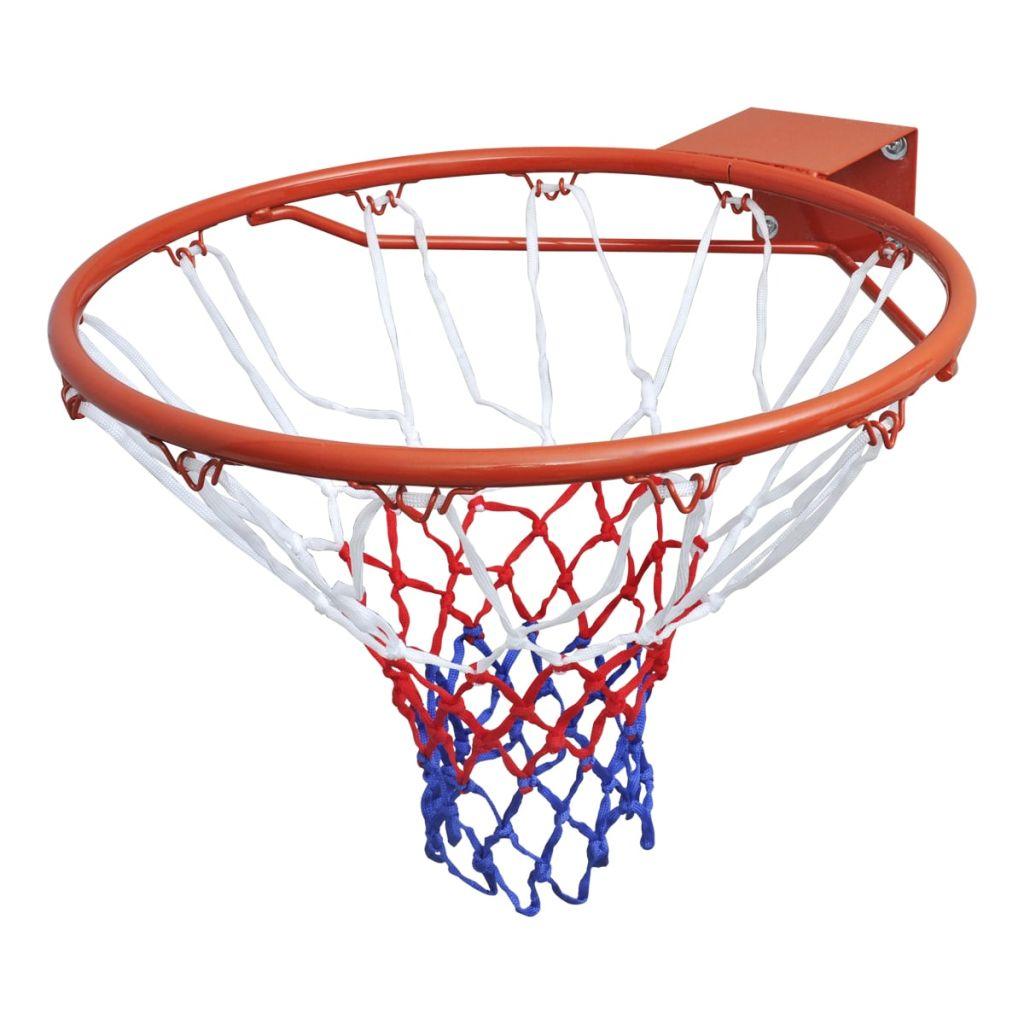 Basketballkorb-Set Hangring mit Netz Orange 45 cm