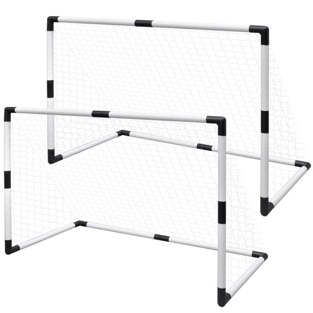 Mini Fußball Torpfosten Netz Set 2 Stück für Kinder
