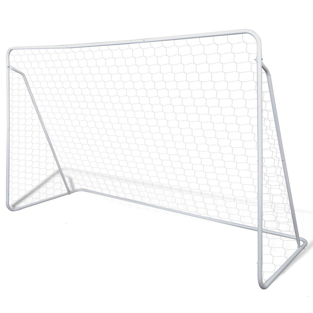 Mini Fußball Torpfosten Netz Set Stahl 240 x 90 x 150 cm