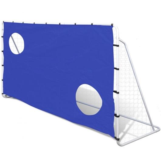 Fußball Tor mit Torschusswand Stahl 240 x 92 x 150 cm