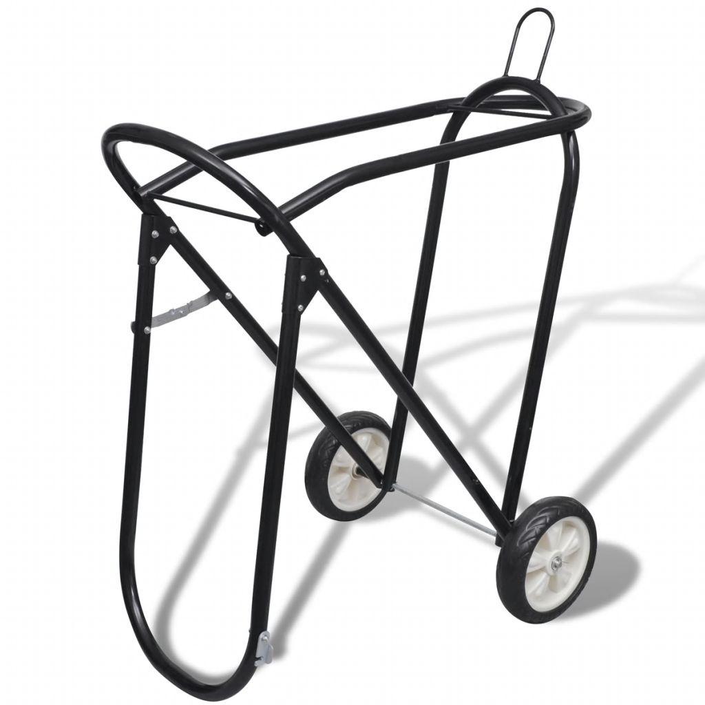 Sattelhalter aus Metall zusammenklappbar mit Rädern