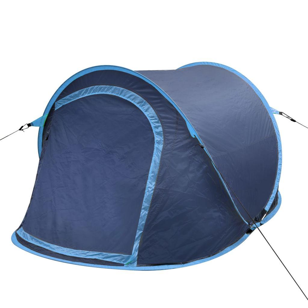 Pop-Up-Zelt für 2 Personen Marineblau/Hellblau