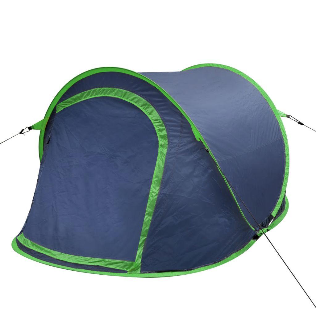Pop-Up-Zelt für 2 Personen Marineblau/Grün