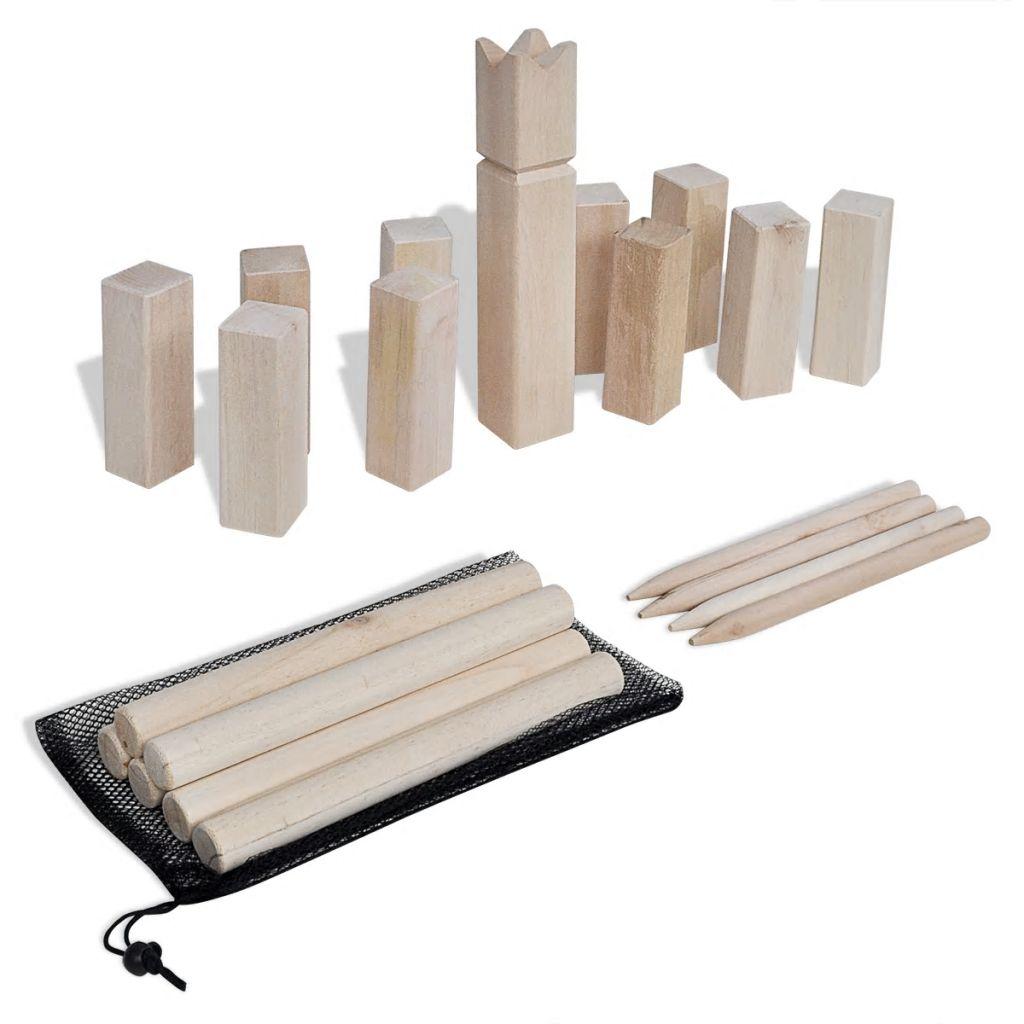 Kubb Holzspiel- Set