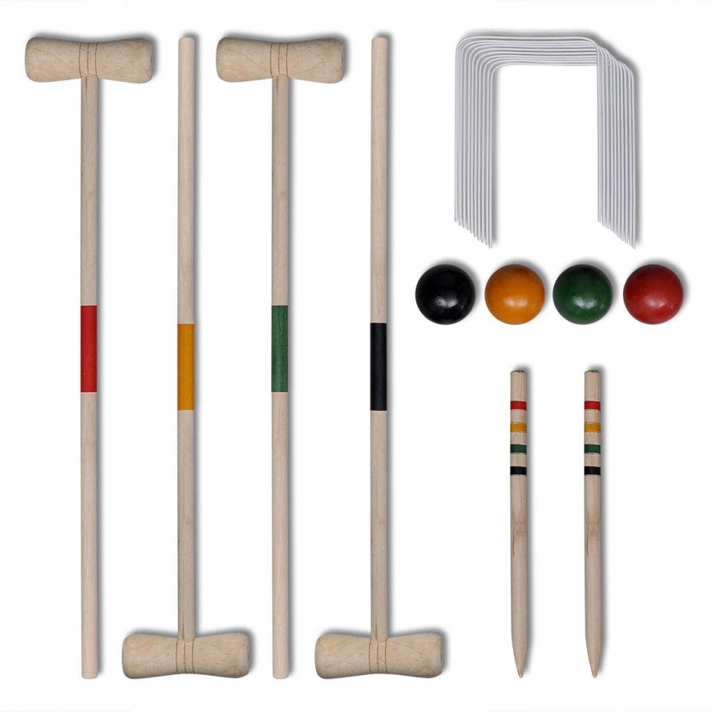 Krocket-Set Holz für 4 Personen