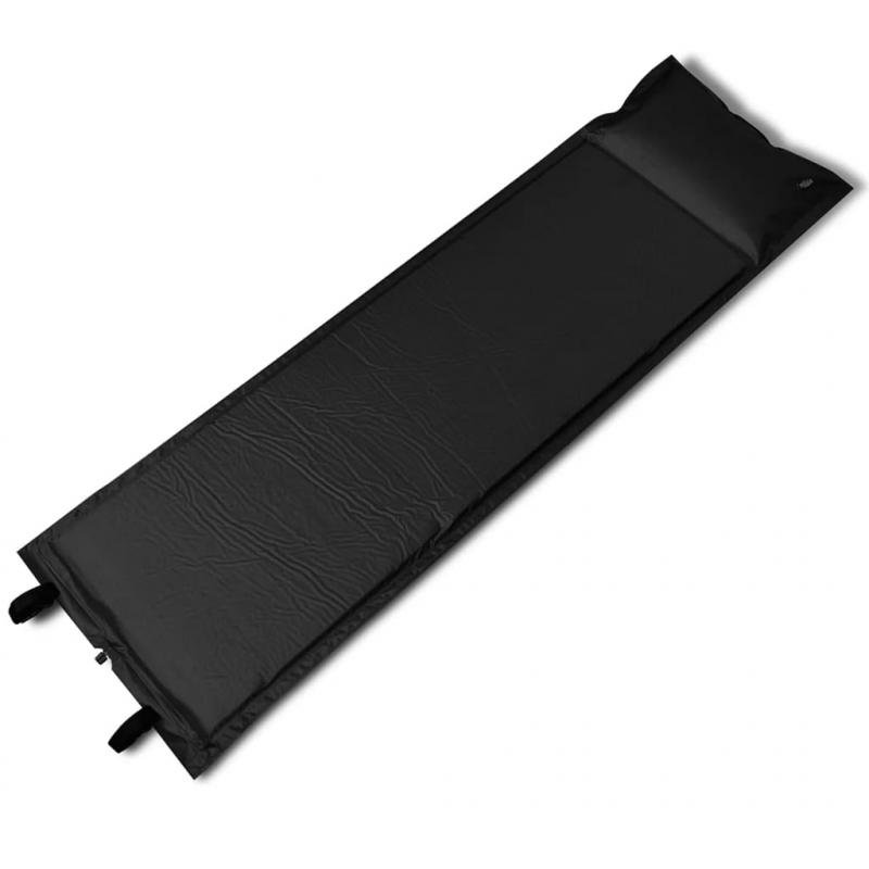 Selbstaufblasende Luftmatratze Schwarz 185x55x3cm (Einzelmatratze)