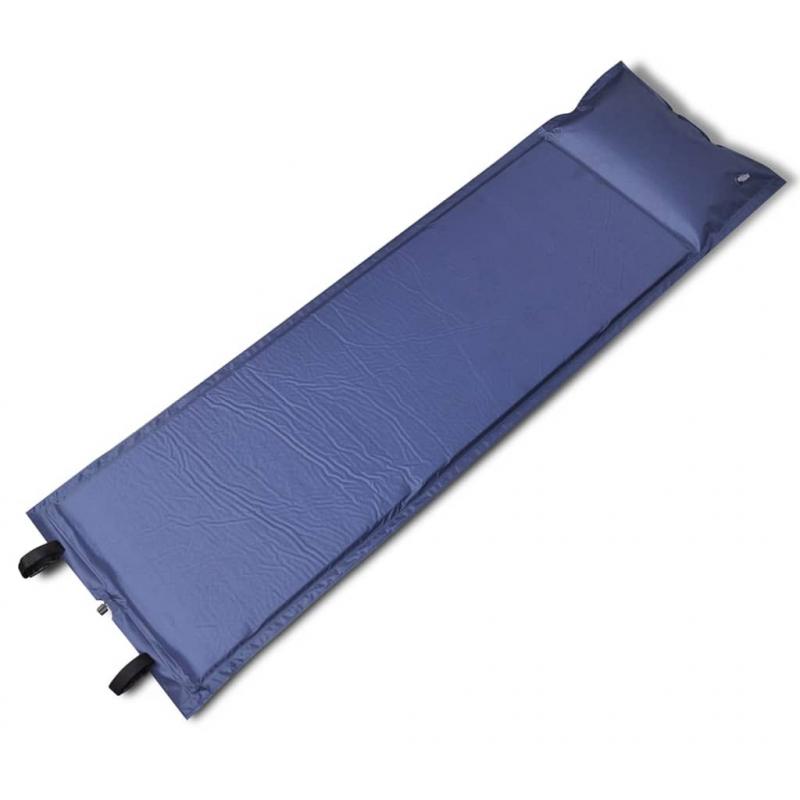 Selbstaufblasende Luftmatratze Blau 185x55x3cm (Einzelmatratze)