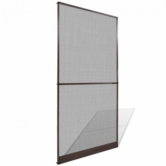 Insektenschutz mit Scharnieren für Türen 120 x 240 cm braun