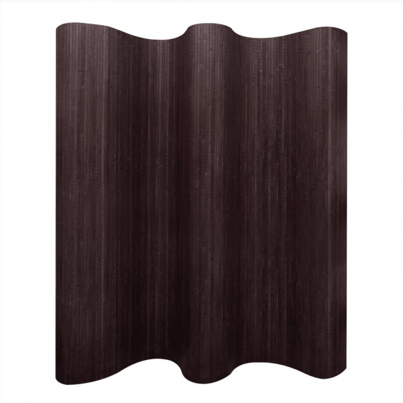 Raumteiler Bambus Dunkelbraun 250x165 cm