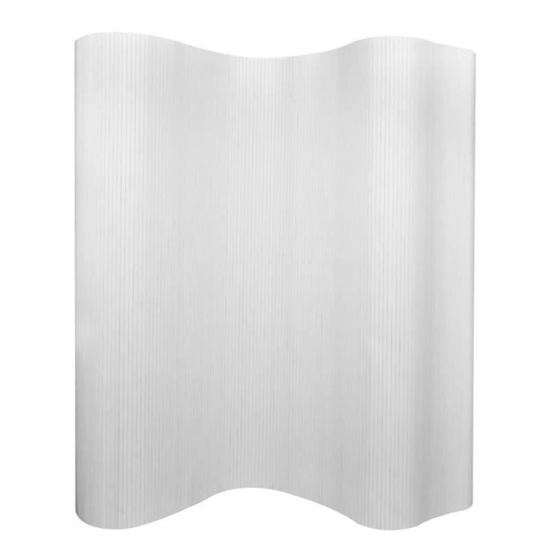 Raumteiler Bambus Weiß 250×165 cm