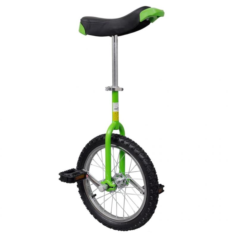 Einstellbares Einrad 40,7 cm grün