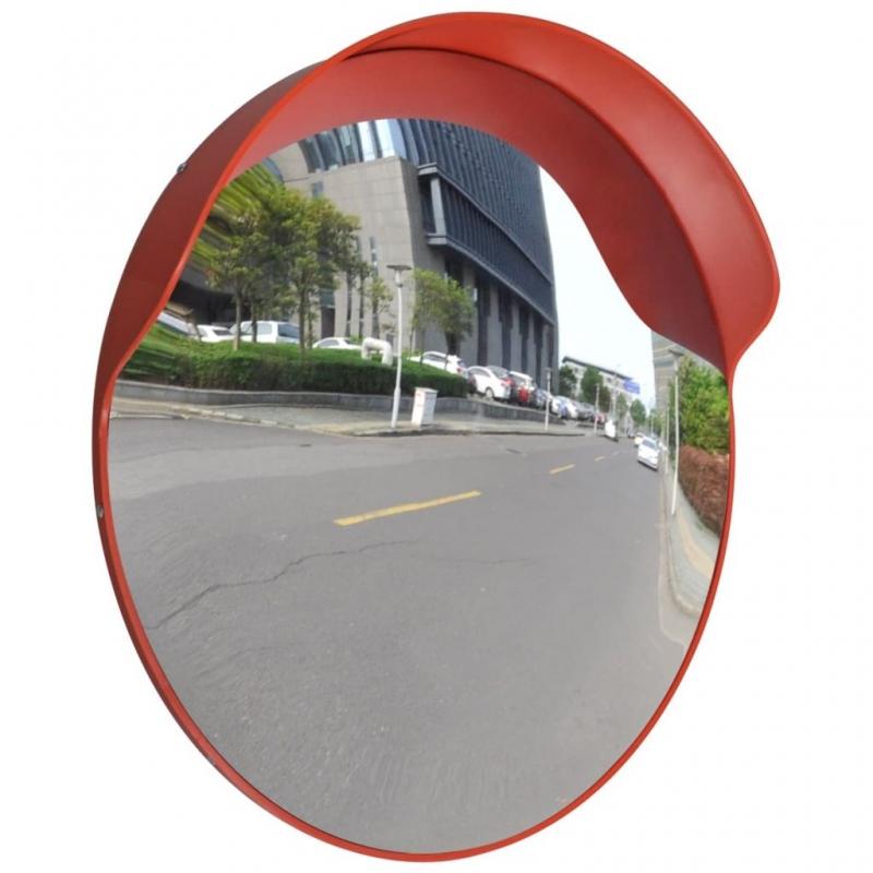 Verkehrsspiegel Konvex PC-Kunststoff Orange 60 cm Outdoor