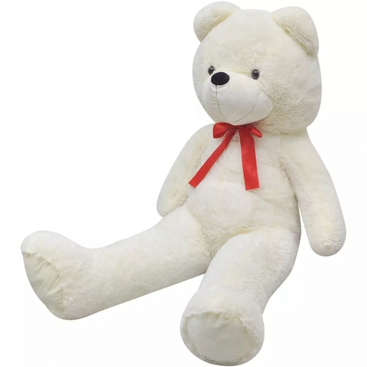 Weicher XXL-Plüsch-Teddybär Weiß 85 cm
