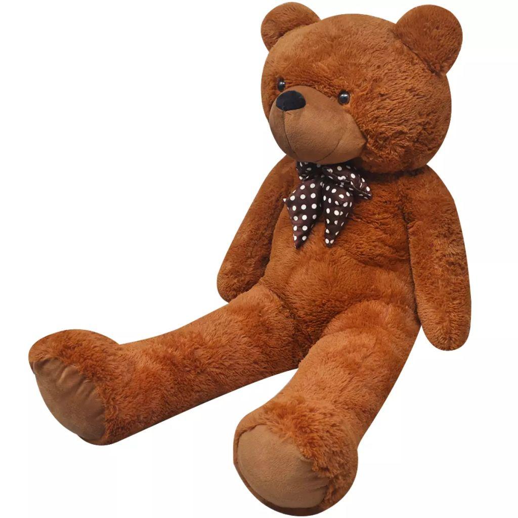 Weicher XXL-Plüsch-Teddybär Braun 160 cm