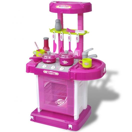 Spielküche mit Licht und Soundeffekten Rosa