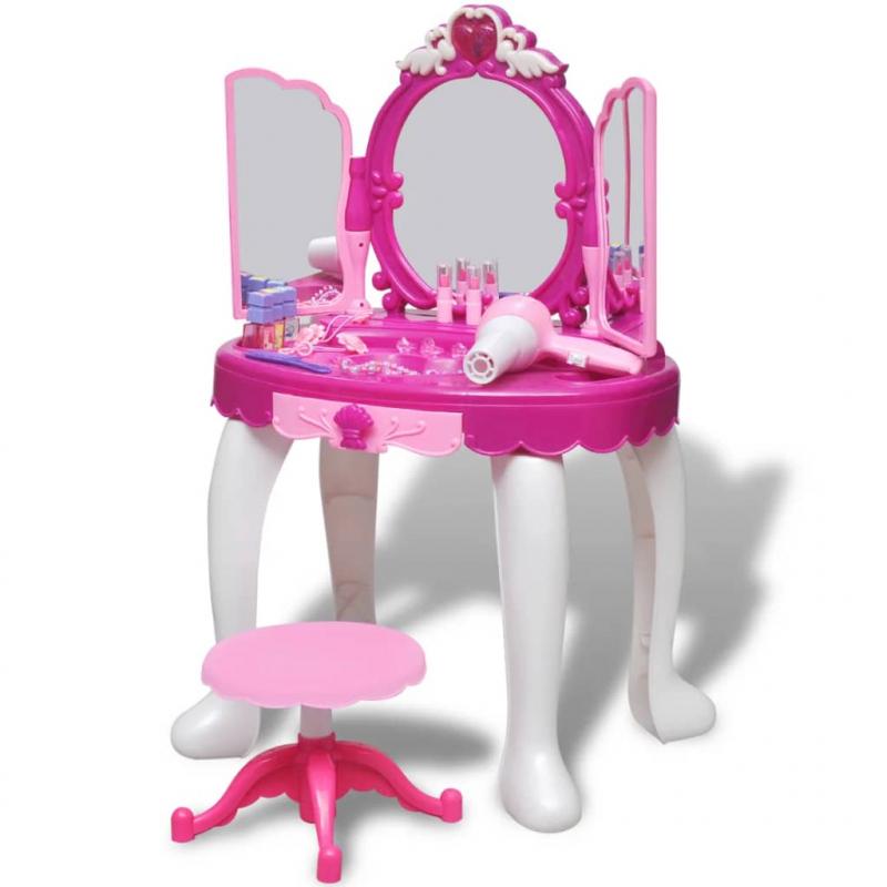Kinder-Schminktisch mit 3 Spiegeln und Licht/Ton