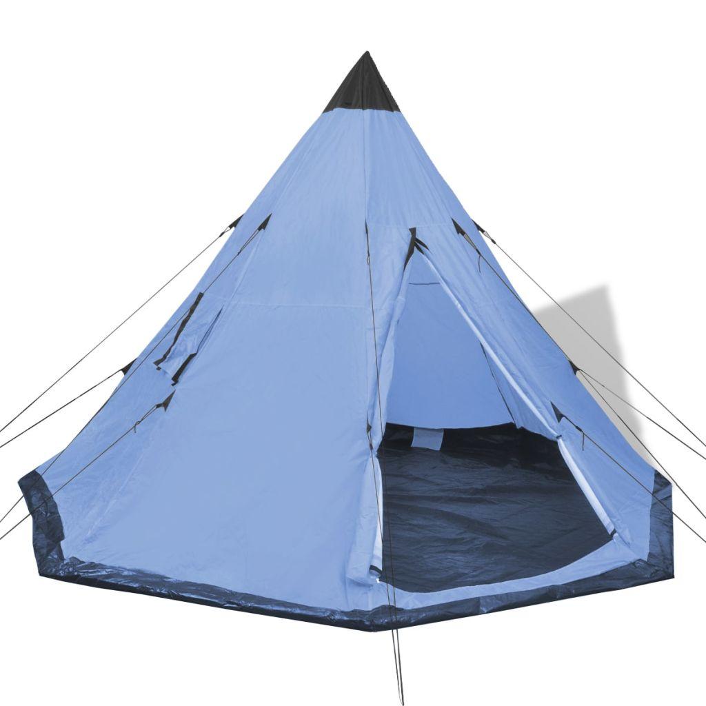 4-Personen-Zelt Blau