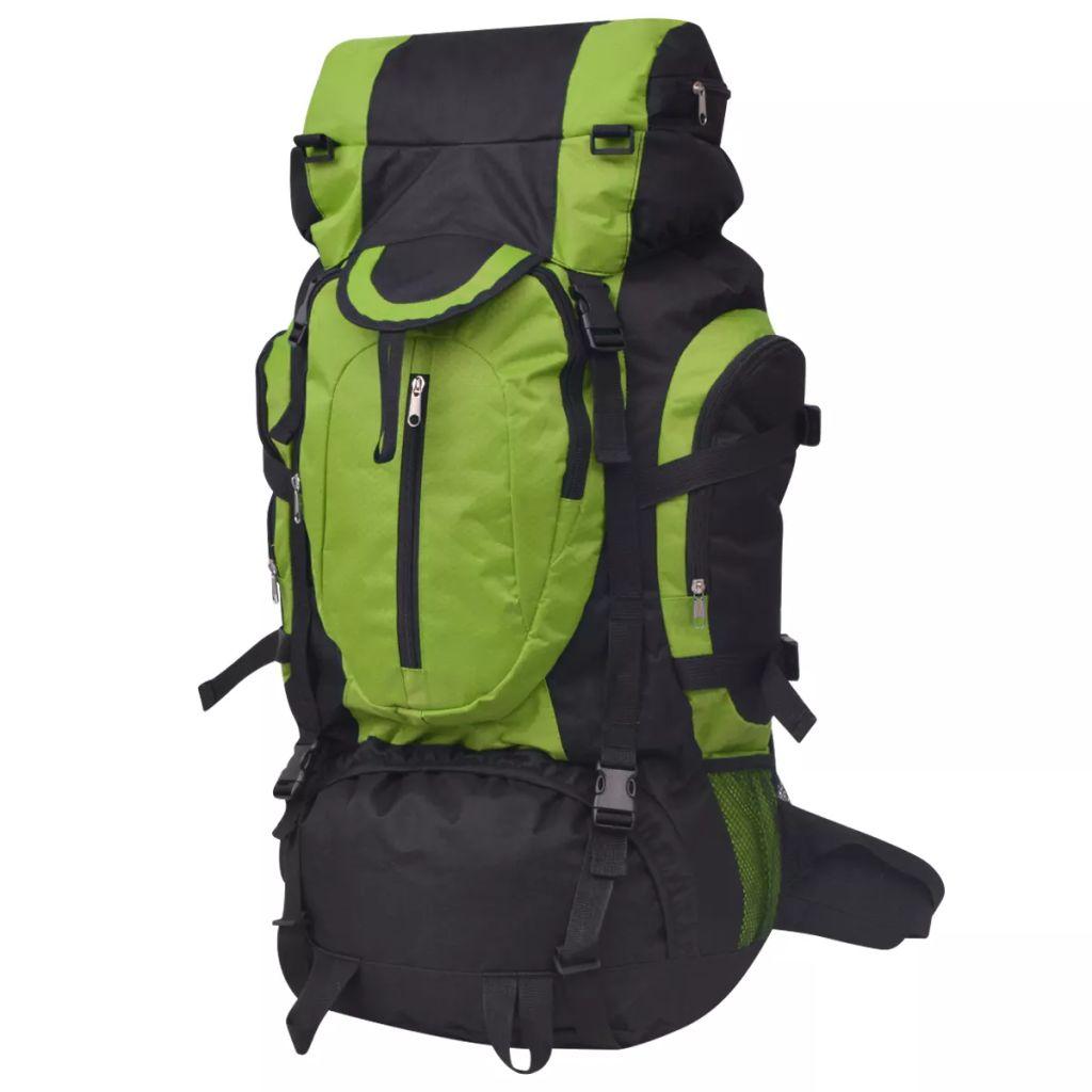 Wanderrucksack XXL 75 L schwarz und grün