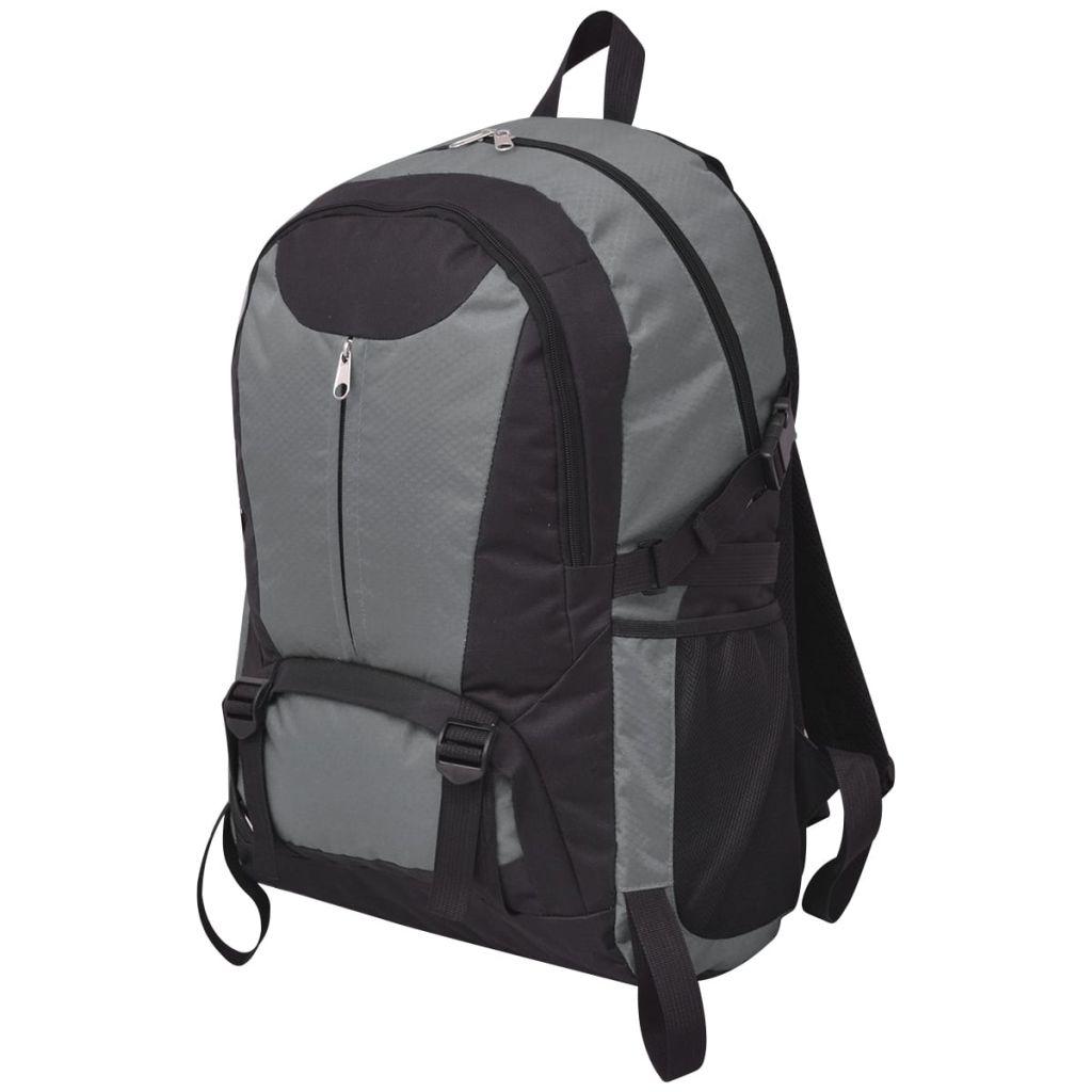 Wanderrucksack 40 L Schwarz und Grau