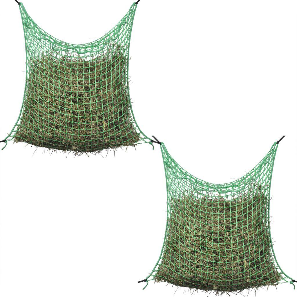 Heunetze 2 Stk Quadratisch 0,9x1,5 m PP