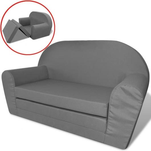 Kinder Ausklapp-Loungesessel Grau