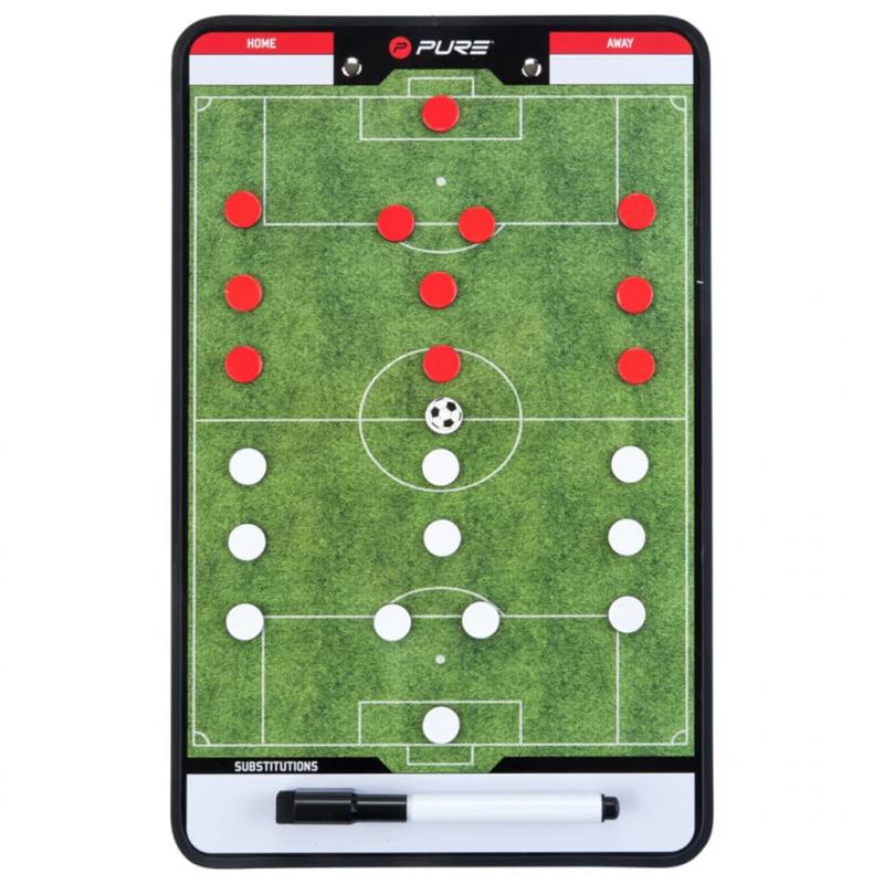 Pure2Improve Doppelseitiges Coach-Board Fußball 35×22 cm P2I100680