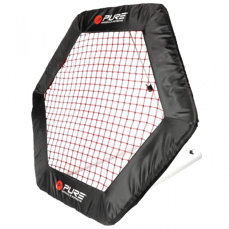 Pure2Improve Fußball-Rebounder Hexagon 140 x 125cm