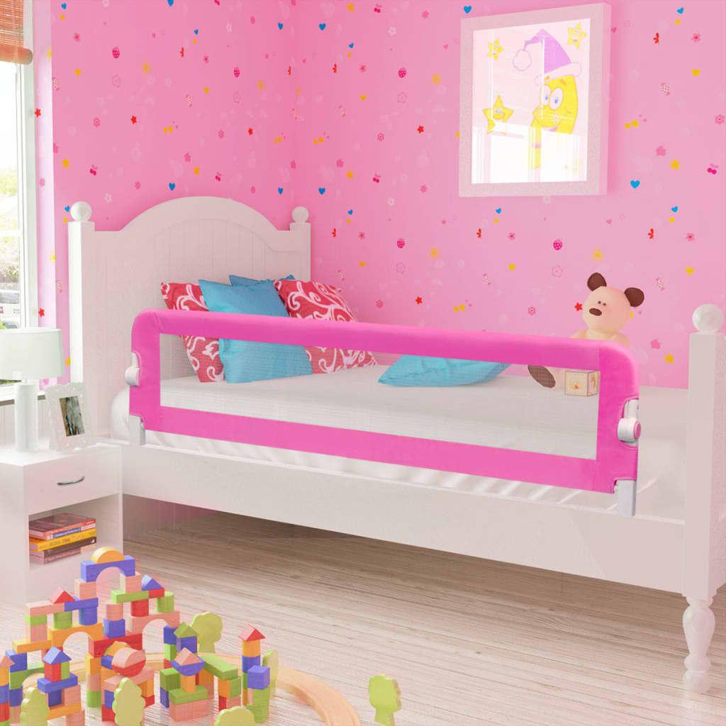 Kleinkind Bettschutzgitter 2 Stück Rosa 150 x 42 cm