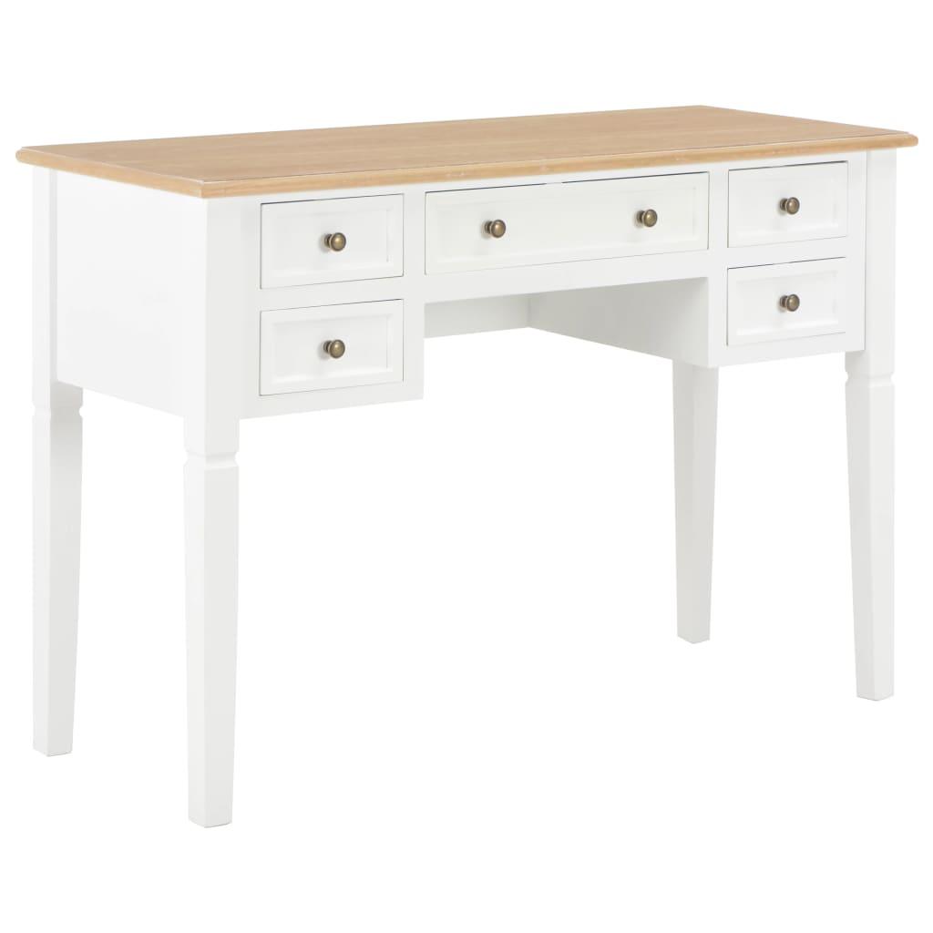 Schreibtisch Weiß 109,5 x 45 x 77,5 cm Holz