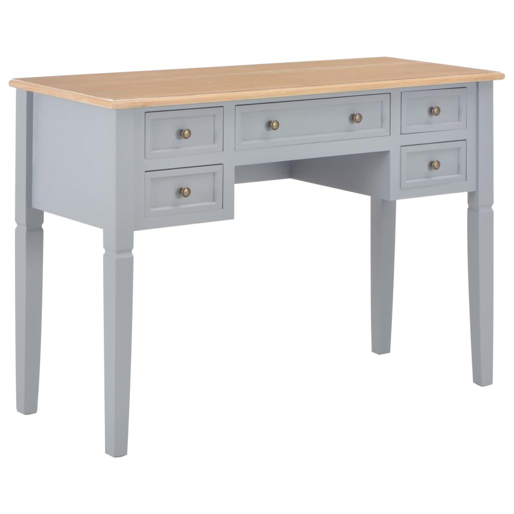 Schreibtisch Grau 109,5 x 45 x 77,5 cm Holz