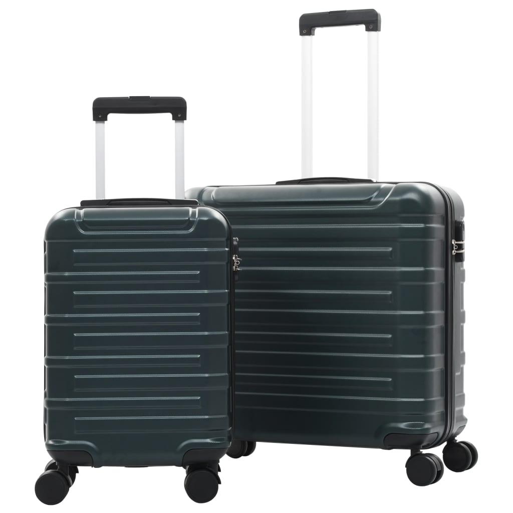 Hartschalen-Trolley-Set 2 Stk. Grün ABS