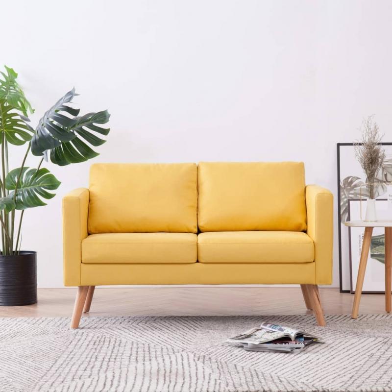 2-Sitzer-Sofa Stoff Gelb