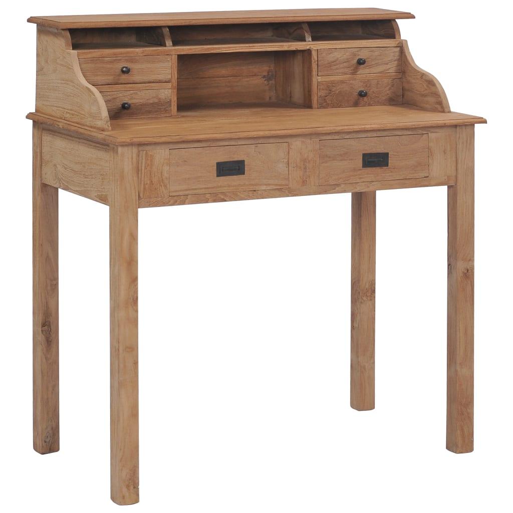 Schreibtisch 90×50×100 cm Massivholz Teak