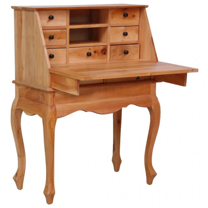 Sekretär 78×42×103 cm Massivholz Mahagoni