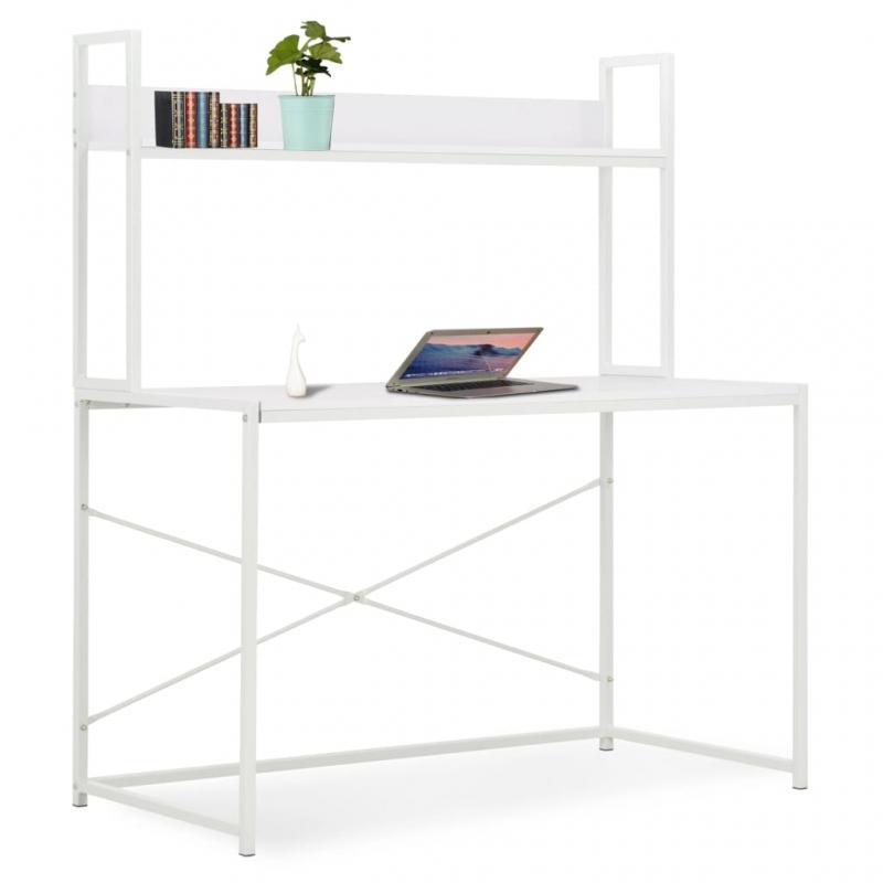 Computertisch Weiß 120×60×138 cm