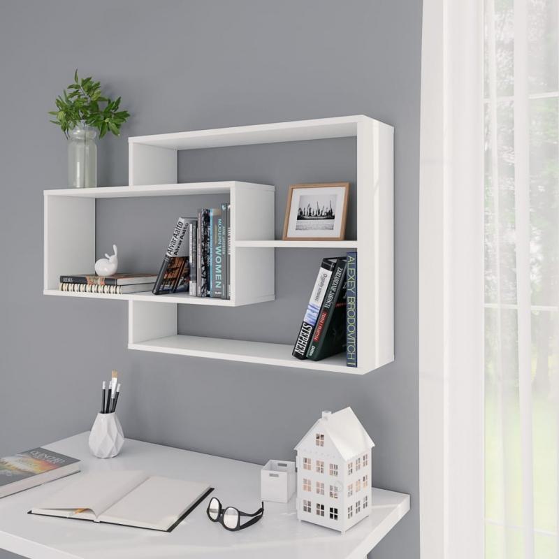 Wandregale Weiß 104×24×60 cm Spanplatte