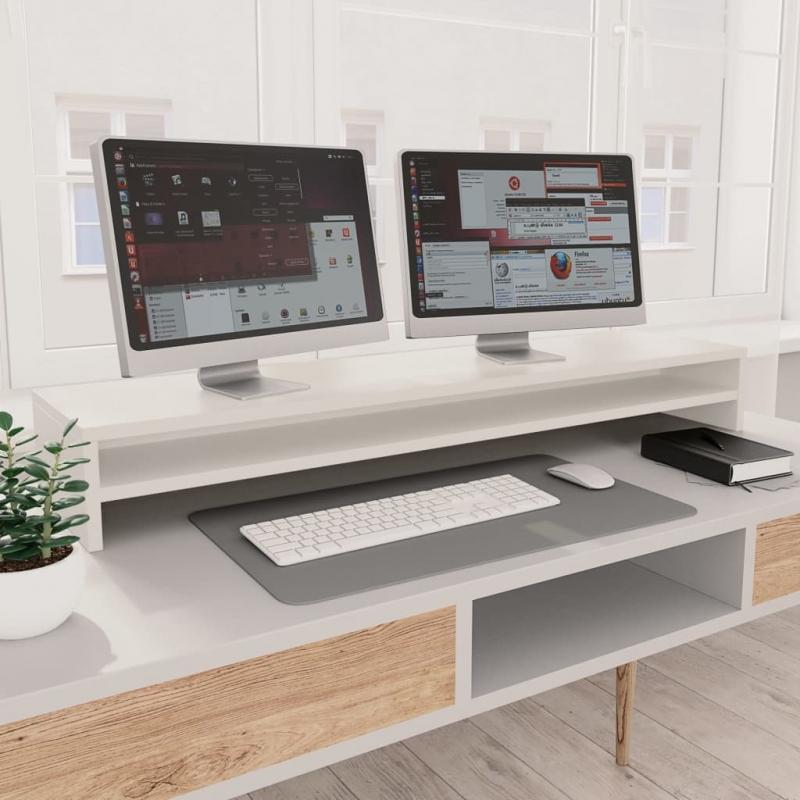 Monitorständer Weiß 100 x 24 x 13 cm Spanplatte