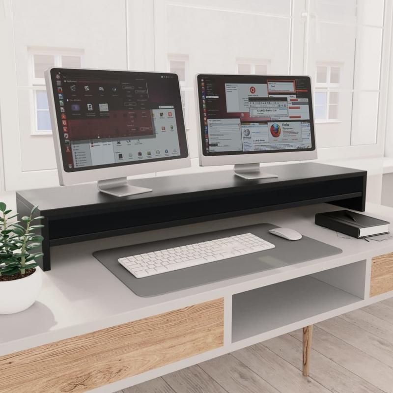 Monitorständer Schwarz 100×24×13 cm Spanplatte
