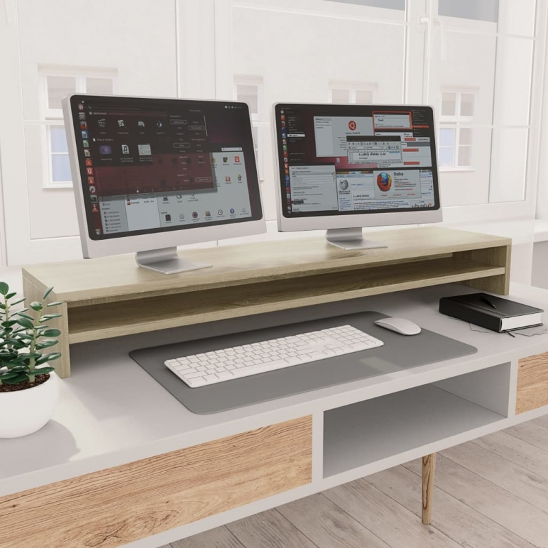 Monitorständer Sonoma Eiche-Optik 100×24×13 cm Spanplatte