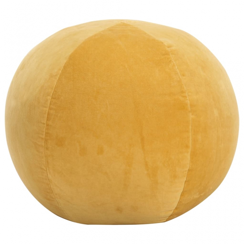 Pouf Baumwollsamt 50×35 cm Gelb