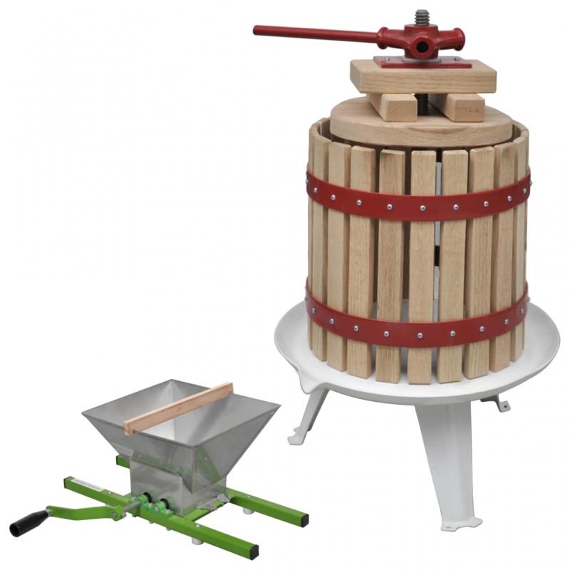 2-tlg. Obst- & Weinpresse und Mühle-Set