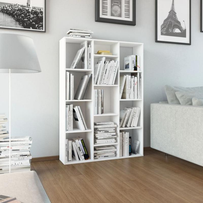 Raumteiler/Bücherregal Weiß 100 x 24 x 140 cm Spanplatte