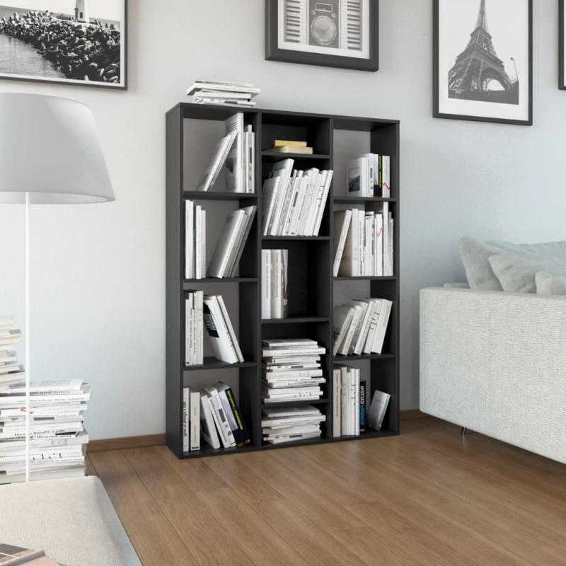 Raumteiler/Bücherregal Schwarz 100×24×140 cm Spanplatte