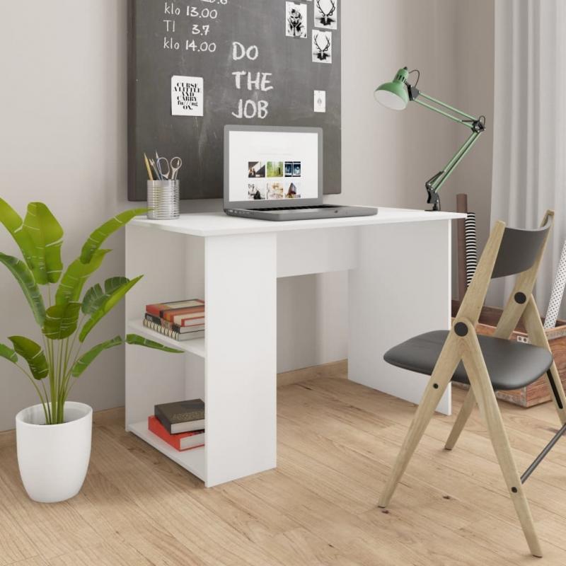 Schreibtisch Weiß 110×60×73 cm Spanplatte